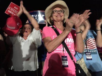 Trump fans at Pensacola Florida rally (Joel Pollak / Breitbart News)