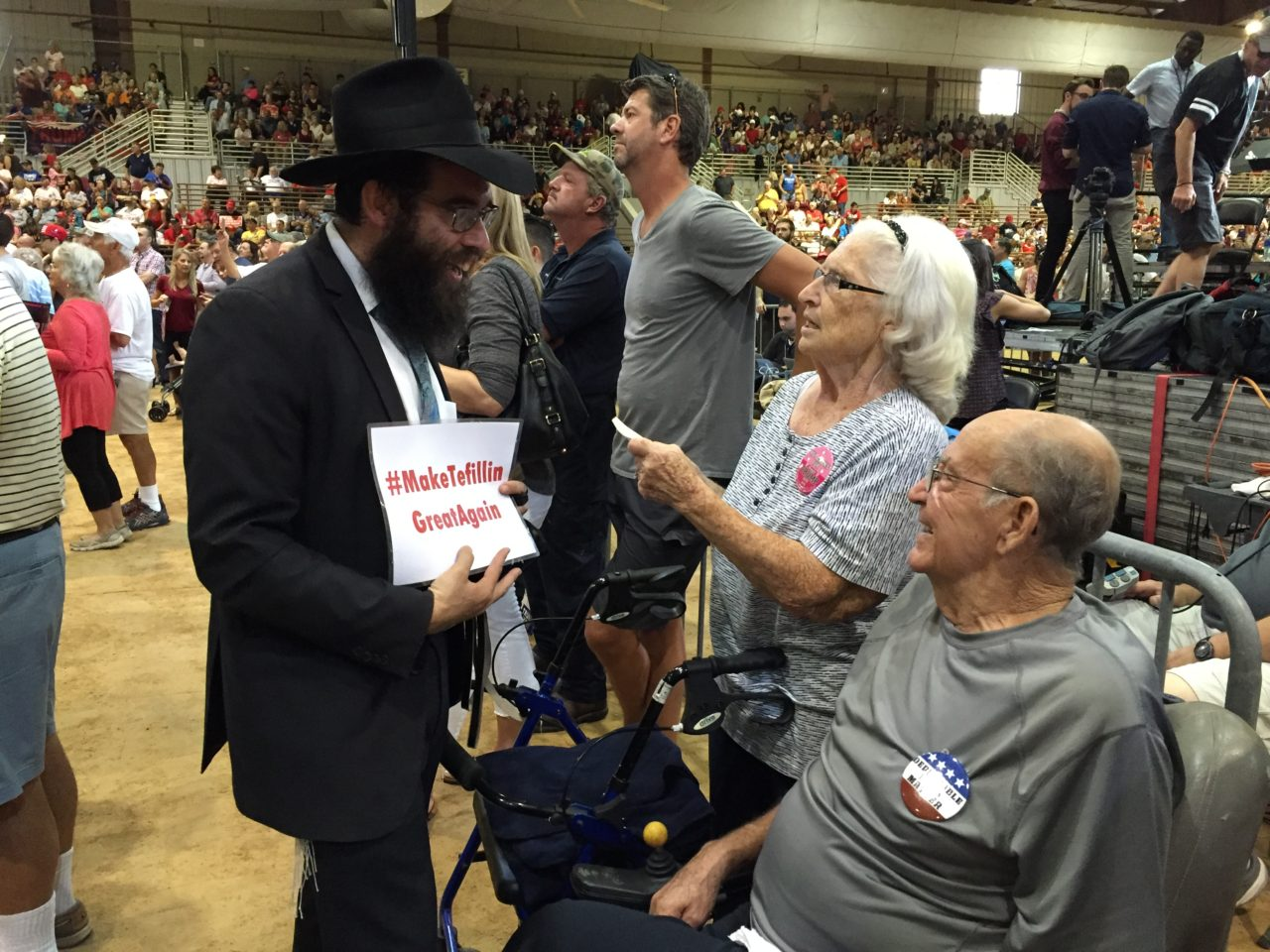 Rabbi at Trump Jacksonville Florida Rally (Joel Pollak / Breitbart News)