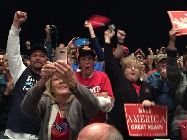 Fans at Trump Rally Sterling Heights Michigan Rally (Joel Pollak / Breitbart News)