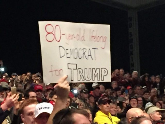 80-year-old Democrat for Trump Sterling Heights Michigan Rally ()