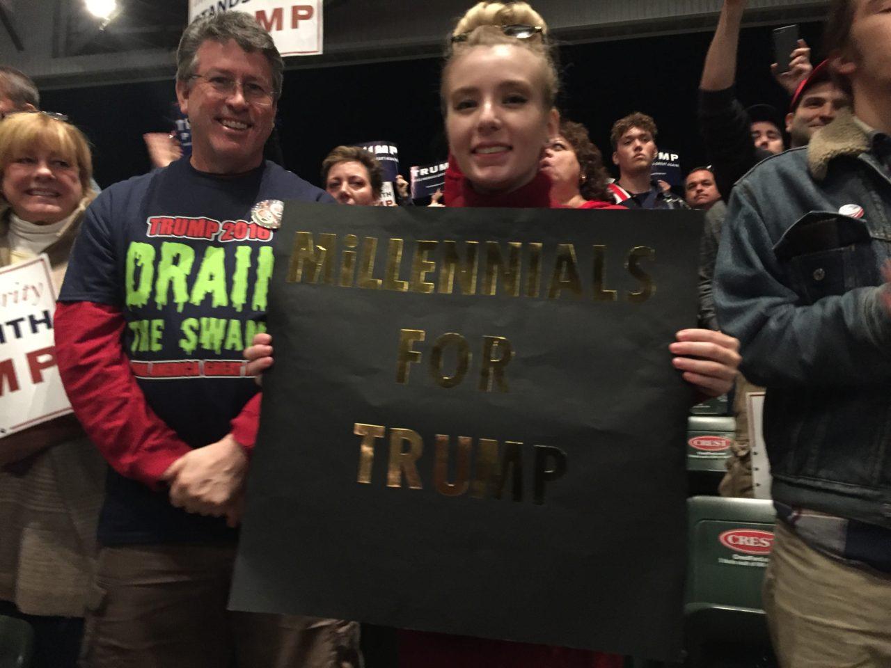Millennials for Trump Sterling Heights Michigan Rally (Joel Pollak / Breitbart News)