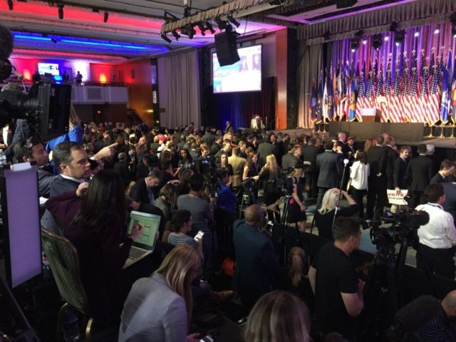 Donald Trump Victory Party (Joel Pollak / Breitbart News)