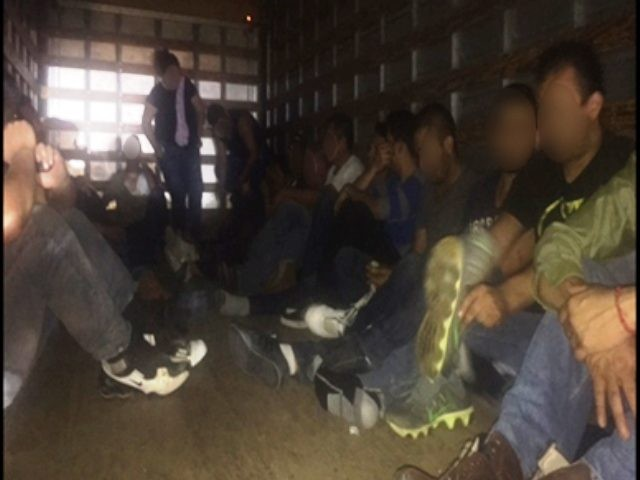 Illegal Immigrants in Cargo Trailer