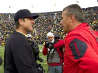 Jim Harbaugh and Urban Meyer AP