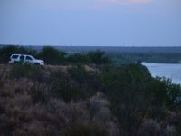 Laredo Sector Border Patrol Agent monitors Rio Grande River