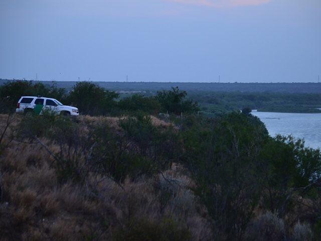 Laredo Sector Border Patrol Agent monitors Rio Grande River