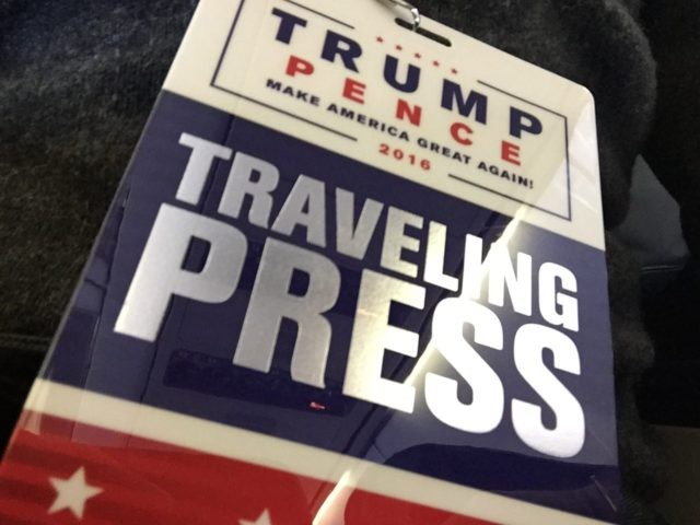 Press Trump (Joel Pollak / Breitbart News)