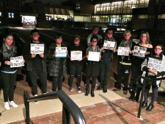 SJP Washington University pinkwashing protests photo: Facebook SJP Wash U