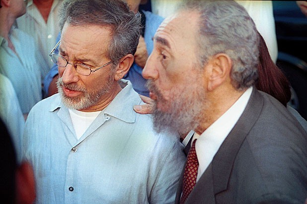 Steven-Spielberg-and-Fidel-Castro-getty