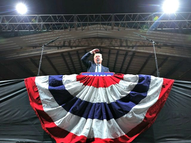 Supporters of Republican presidential nominee Donald Trump attend a campaign rally at The Farm.November 3, 2016 in Selma, North Carolina. With less than a week before Election Day in the United States, Trump and his opponent, Democratic presidential nominee Hillary Clinton, are campaigning in key battleground states that each must …