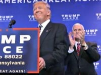 Republican presidential nominee Donald Trump and vice presidential nominee Governor Mike Pence speak on the Affordable Care Act at the DoubleTree by Hilton November 1, 2016 in Valley Forge, Pennsylvania.