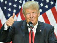Trump Upbeat AP