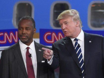 Trump and Carson AP