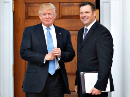 Trump and Kobach AP