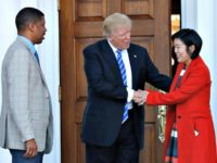 Trump and Michelle Rhee AP