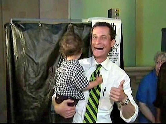 Weiner Voting with Kid NBC