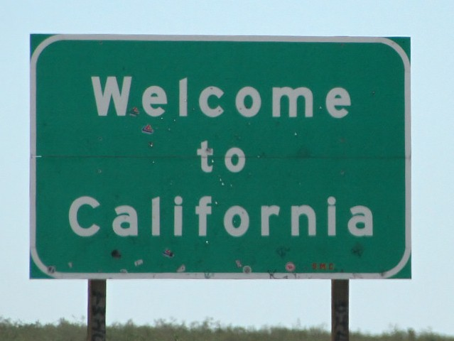 Welcome to California (Tony Hisgett / Flickr / CC / Cropped)