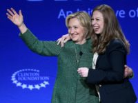 Hillary Rodham Clinton, Former U.S. Secretary of State and U.S. Senator from New York (L) and her daughter Chelsea Clinton, Vice Chair, Clinton Foundation embrace as they attend the 2015 Meeting of Clinton Global Initiative University at the University of Miami on March 7, 2015 in Coral Gables, Florida. The …