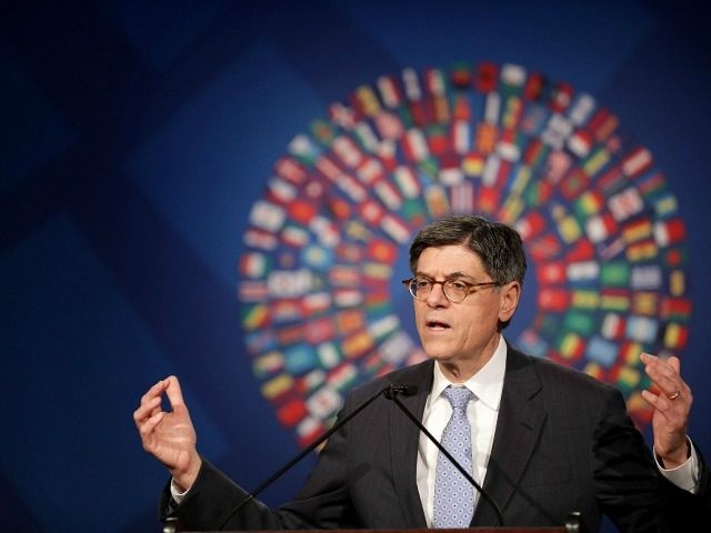 U.S. Treasury Secretary Jacob Lew holds a news conference in the Jack Morton Auditorium on the campus of the George Washington University October 7, 2016 in Washington, DC. Lew talked to reporters during the Annual Meetings of the International Monetary Fund (IMF) and World Bank. (Photo by Chip Somodevilla/Getty Images)