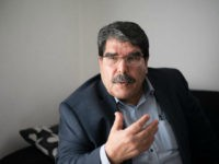 Salih Muslim, co-president of the Syrian Kurdish Democratic Union Party (PYD), speaks during an interview in Marseille, southern France, on December 1, 2013. PYD, the biggest Kurdish armed group, wants to establish an autonomous Kurdish state within a federal Syria and a commission is already writing the constitution of this …