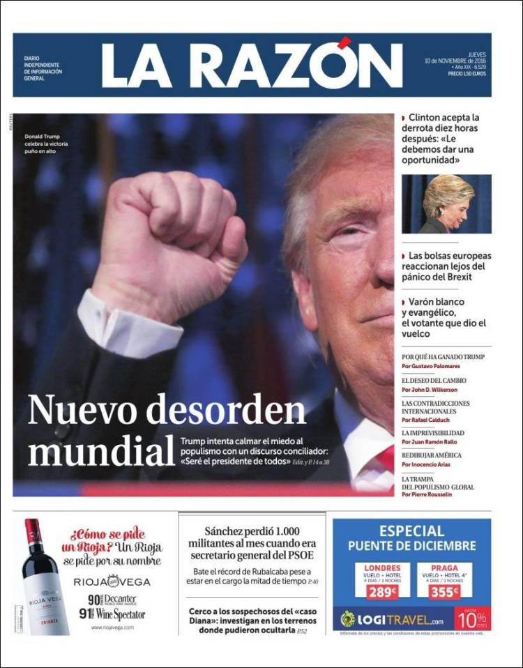 "La Razón describes a ""New World Disorder"""