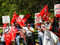 PENNSYLVANIA, USA - AUGUST 7: People gather to support Democracy and Martyrs' Rally, held to protest against the July 15 failed coup by the Fetullah Terrorist Organization (FETO) at Yenikapi in Istanbul, near the Fettullah Gulen's residence in Pennsylvania, United States on August 7, 2016. Turkish officials accuse U.S. based Turkish citizen Fetullah Gulen plotting to overthrow the government of President Erdogan as the culmination of a long running campaign to infiltrate Turkish institutions including the military, the police and the judiciary. (Photo by Volkan Furuncu/Anadolu Agency/Getty Images)
