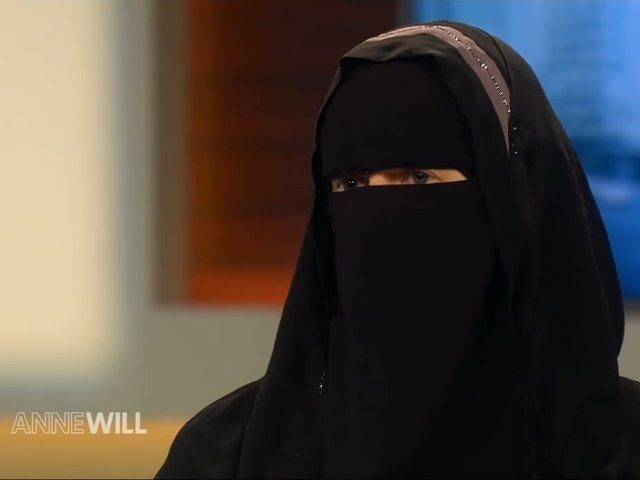 "Islamist Nora Illi appears on an episode of German TV show ""Anne Will"" November 6th 2016"
