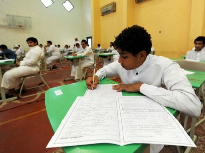 Saudi students sit for their final high school exams in the Red Sea port city of Jeddah on May 24, 2015. AFP PHOTO / AMER SALEM AMER SALEM / AFP