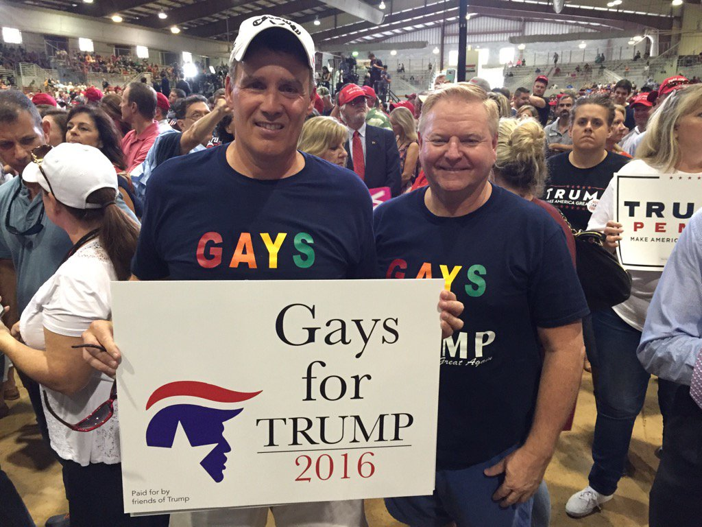 Gays for Trump at Jacksonville Florida Rally (Joel Pollak / Breitbart News)