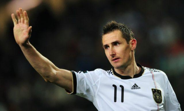 Miroslav Klose is Germany's top scorer with 71 goals in 137 internationals