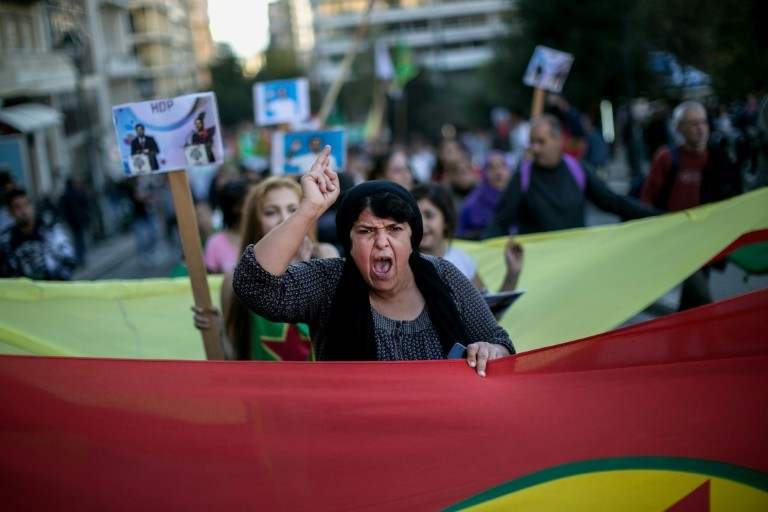 The arrests of pro-Kurdish officials in Turkey has sparked outrage among the wider community, with Kurds demonstrating in Athens on November 5, 2016