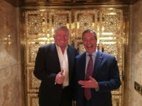 UK Independence Party leader Nigel Farage (right) poses with US President-elect Donald Trump in New York