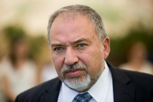 "Israeli Defence Minister Avigdor Lieberman, seen June 2016, reportedly told Israeli media that he hopes the country's right-wing politicians ""have enough sense to stop the jubliation and public enthusiasm"" at Donald Trump's election as US president"