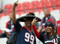 Houston Texans fans are seen in attendance prior to the game against the Oakland Raiders at Estadio Azteca on November 21, 2016 in Mexico City, Mexico