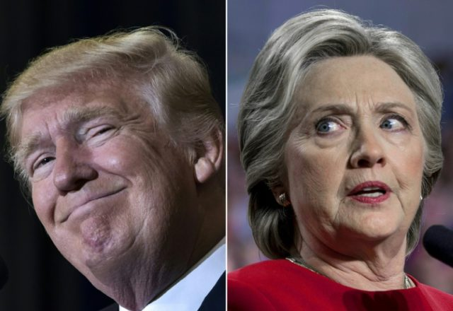 US President-elect Donald Trump (L) is strengthening his criticism of former Democratic nominee Hillary Clinton for joining a vote recount in Wisconsin