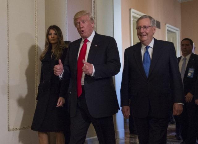 Donald Trump, Mitch McConnell, Melania Trump