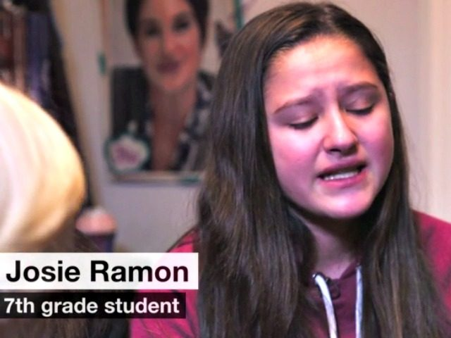 7th Grade Hispanic Girl %22Build a Wall%22 chant-CNN