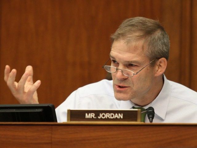 Rep. Jim Jordan (R-Ohio) speaks on an amendment. Members of the House Committee on Oversight and Government Reform met to consider a censure or IRS Commissioner John Koskinen on Wednesday, June 15, 2016 on Capitol Hill in Washington.