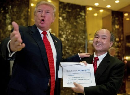 Trump Announces Japanese Telecom Co. Will Invest $50 Billion to Create 50,000 Jobs in U.S.