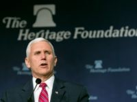 Vice President-elect Mike Pence addresses the Heritage Foundation's 2016 President's Club Meeting in Washington, Tuesday, Dec. 6, 2016.