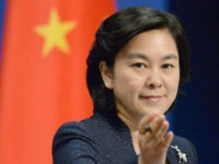 "Chinese Foreign Ministry spokeswoman Hua Chunying attends a press conference in Beijing on May 20, 2016, following the inauguration of Taiwan's new President Tsai Ing-wen. Hua said, ""Whatever changes Taiwan may go through, the Chinese government will uphold the one-China principle and oppose Taiwan independence."" (Kyodo via AP Images) ==Kyodo"