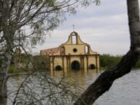This is the famous cathedral at Guerrero Viejo, and as you can see rising waters have started to reclaim her. She was partially restored and painted by followers during the last few years.