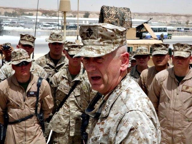 Gen Mattis with Marines