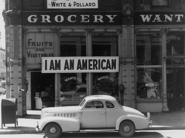 8th December 1941: The day after Pearl Harbour (Pearl Harbor) and following evacuation orders for Japanese living in America the owner of this shop in Oakland, California, who is a University of California graduate of Japanese descent, put this notice across his shop front. (Photo by Dorothea Lange/Getty Images)
