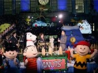 20: The Peanuts help unveil the Peanuts inspired Christmas windows at the Macy's Presents 'It's The Great Window Unveiling, Charlie Brown' at Macy's Herald Square on November 20, 2015 in New York City. (Photo by