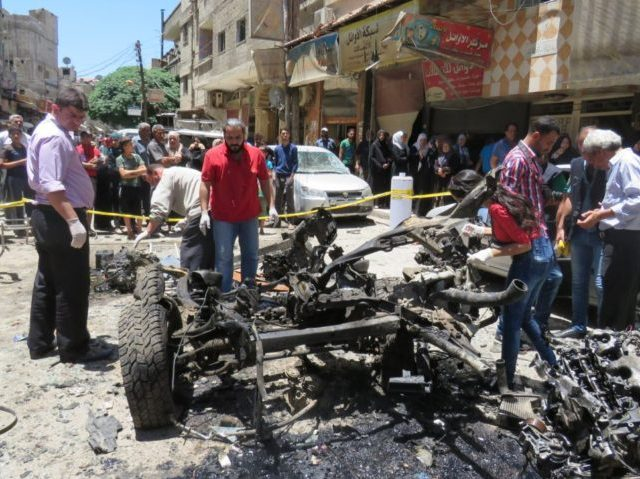 SYRIA-CONFLICT-DAMASCUS-BOMBING