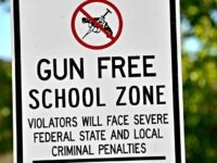 Gun Free School Zone Sign AP