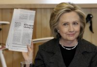 Hillary Clinton Newspaper AP