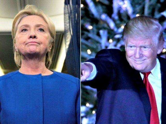 Hillary and Trump Christmas AP