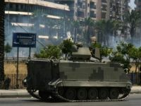 A Lebanese army M113 armored personnel carrier (APC) patrols the streets of the northern Lebanese city of Tripoli on 02 June 2012. Clashes between pro- and anti-Syrian regime gunmen killed at least six people and wounded 21 others in the city. AFP PHOTO (Photo credit should read -/AFP/GettyImages)